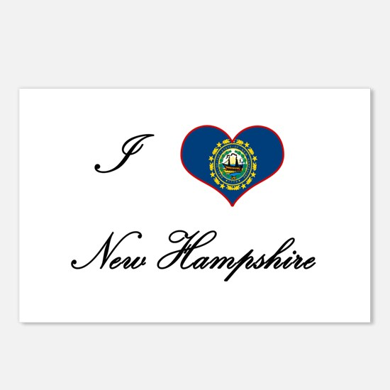 I Love (Heart) New Hampshire Postcards (Package of