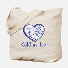 Cold As Ice Frozen Heart Design Tote Bag