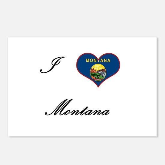 I Love (Heart) Montana Postcards (Package of 8)