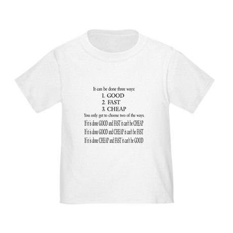 Three Ways Toddler T-Shirt