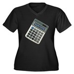 Humor Calculator Awesome Women's Plus Size V-Neck