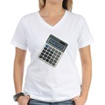Humor Calculator Awesome Women's V-Neck T-Shirt