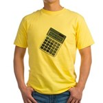 Humor Calculator Awesome Yellow T-Shirt