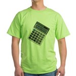Humor Calculator Awesome Green T-Shirt