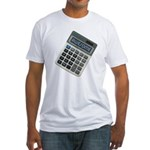 Humor Calculator Awesome Fitted T-Shirt