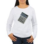 Humor Calculator Awesome Women's Long Sleeve T-Shi