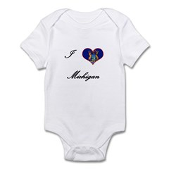I Love (Heart) Michigan Infant Bodysuit