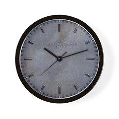 Aged Metal Look Wall Clock