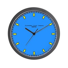 Simple Blue and Yellow Wall Clock