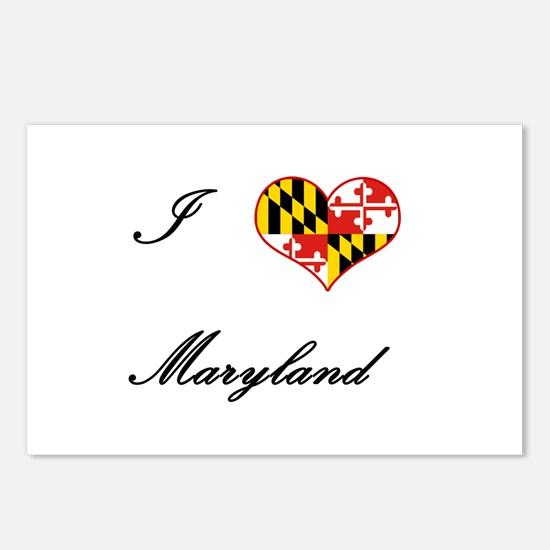 I Love (Heart) Maryland Postcards (Package of 8)