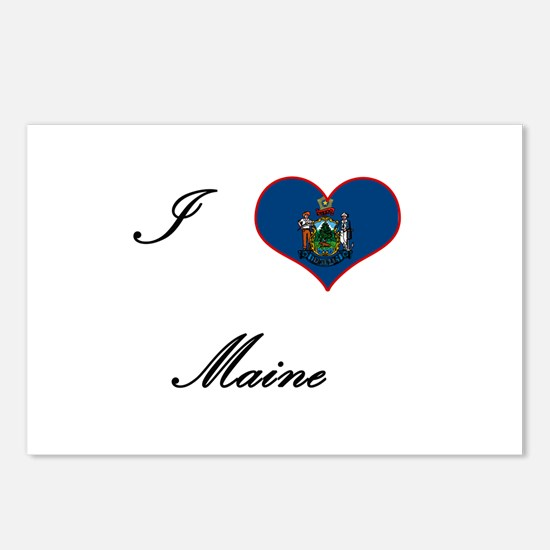 I Love (Heart) Maine Postcards (Package of 8)