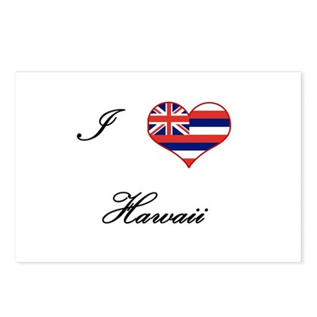 I Love (Heart) Hawaii Postcards (Package of 8)