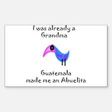 I was already a Grandma Rectangle Decal