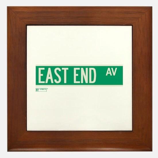 East End Avenue in NY Framed Tile