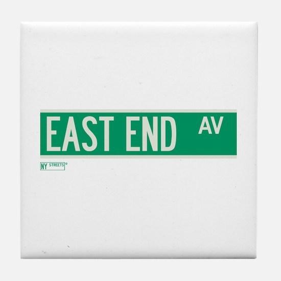 East End Avenue in NY Tile Coaster