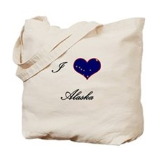 I Love (Heart) Alaska Tote Bag