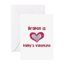 Braden is Daddy's Valentine Greeting Card