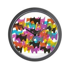 Cute Scottie art Wall Clock