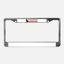 Anti Gun Control License Plate Frame