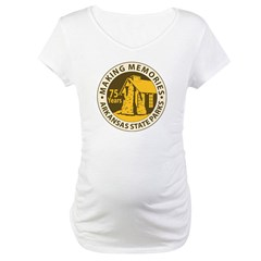 75th Anniversary Products Maternity T-Shirt
