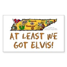 TN-Elvis! Rectangle Decal