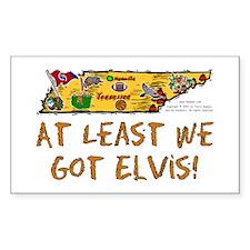 TN-Elvis! Rectangle Decal