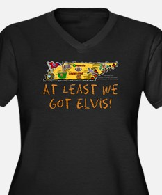 TN-Elvis! Women's Plus Size V-Neck Dark T-Shirt