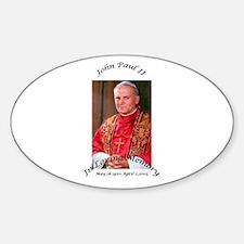 John Paul II Oval Decal