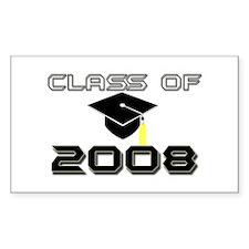 Graduate 2008 Rectangle Decal