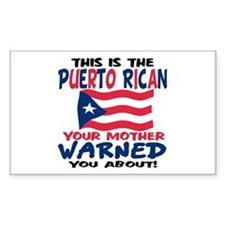 Puerto rican warned you about Sticker (Rectangular
