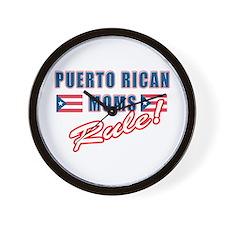 Puerto Rican Moms Rule Wall Clock