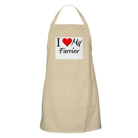 I Heart My Farrier BBQ Apron