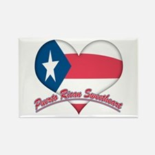 Puerto Rican Sweetheart Rectangle Magnet