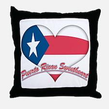 Puerto Rican Sweetheart Throw Pillow