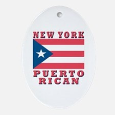 New York Puerto Rican Oval Ornament