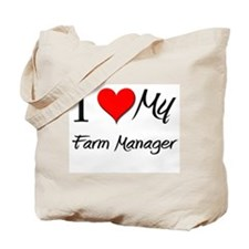 I Heart My Farm Manager Tote Bag