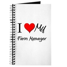 I Heart My Farm Manager Journal