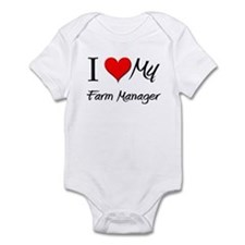 I Heart My Farm Manager Infant Bodysuit