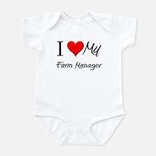I Heart My Farm Manager Infant Bodysuit