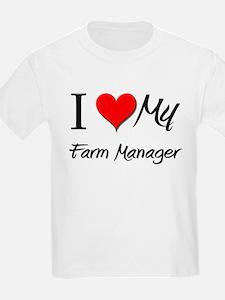 I Heart My Farm Manager T-Shirt