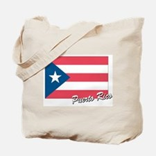 Flag of Puerto rico Tote Bag