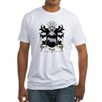 Picot Family Crest Fitted T-Shirt