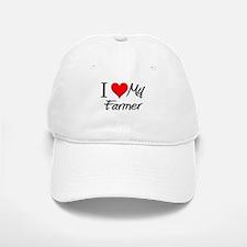 I Heart My Farmer Baseball Baseball Cap