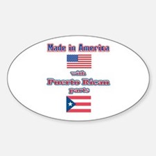 Puerto RICAN Oval Stickers