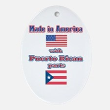 Puerto RICAN Oval Ornament