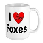 I Love Foxes for Fox Lovers Large Mug