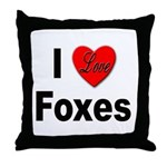 I Love Foxes for Fox Lovers Throw Pillow