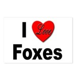 I Love Foxes for Fox Lovers Postcards (Package of