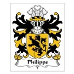 Philipps Family Crest Small Poster
