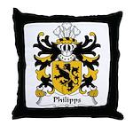 Philipps Family Crest Throw Pillow